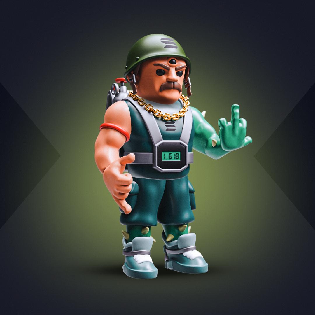 3D SOLDIER #1575